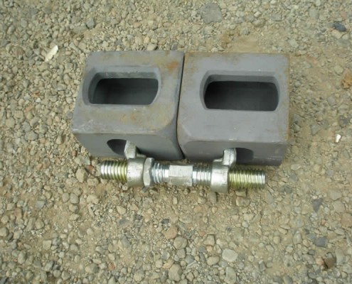 corner castings and bridge clamp