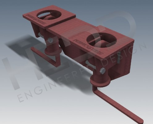 long handle double truck trailer twist lock
